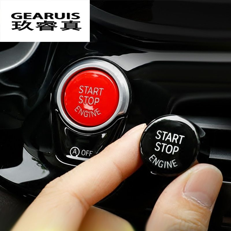 Car styling ENGINE START STOP switch button for BMW F chassis cars F20 F21 F30 F34 F10 F07 F48 F52 F25 F15 F16 auto Accessories