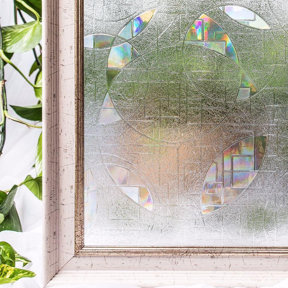 CottonColors PVC étanche fenêtre Films couverture sans colle 3D statique décoratif fenêtre intimité verre autocollants taille 60x200 cm