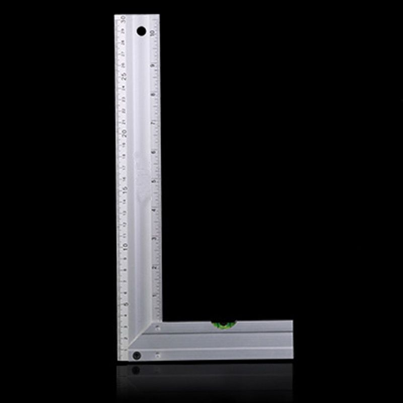 30cm Portable Stainless Steel Bladed 90 Degree Angle Ruler Precision 0.02mm Grade 0 Measuring Tool Square Ruler