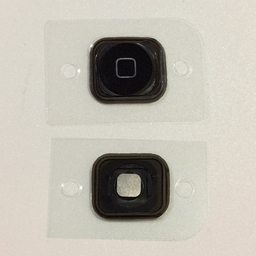 Sinbeda 1pc Home Menu Button For iPod Touch 5 5th Return Key Cap with Rubber Gasket For iPod Touch 6 6th Replacement Parts