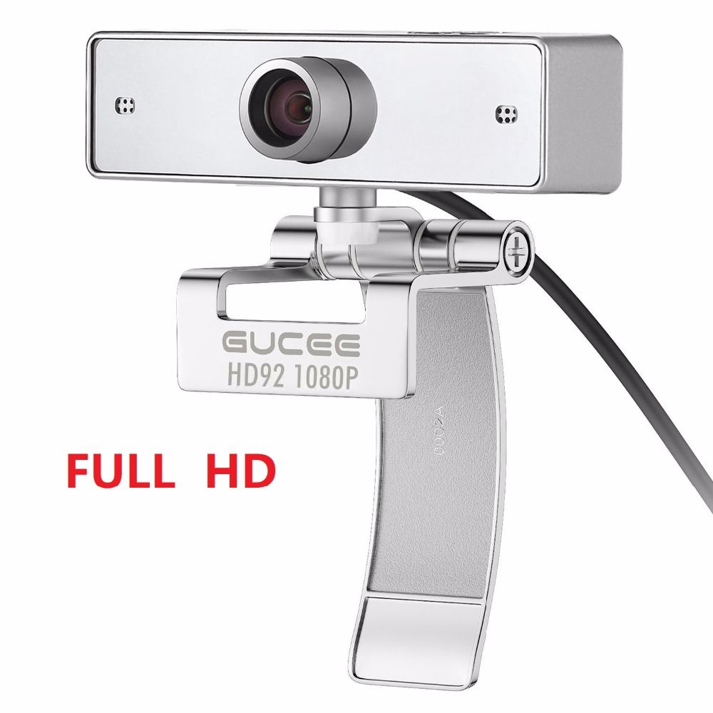 Webcam 1080P, GUCEE HD92 Web Camera for Skype with Built-in Microphone 1920 x 1080p USB Plug and Play Web Cam, Widescreen Video