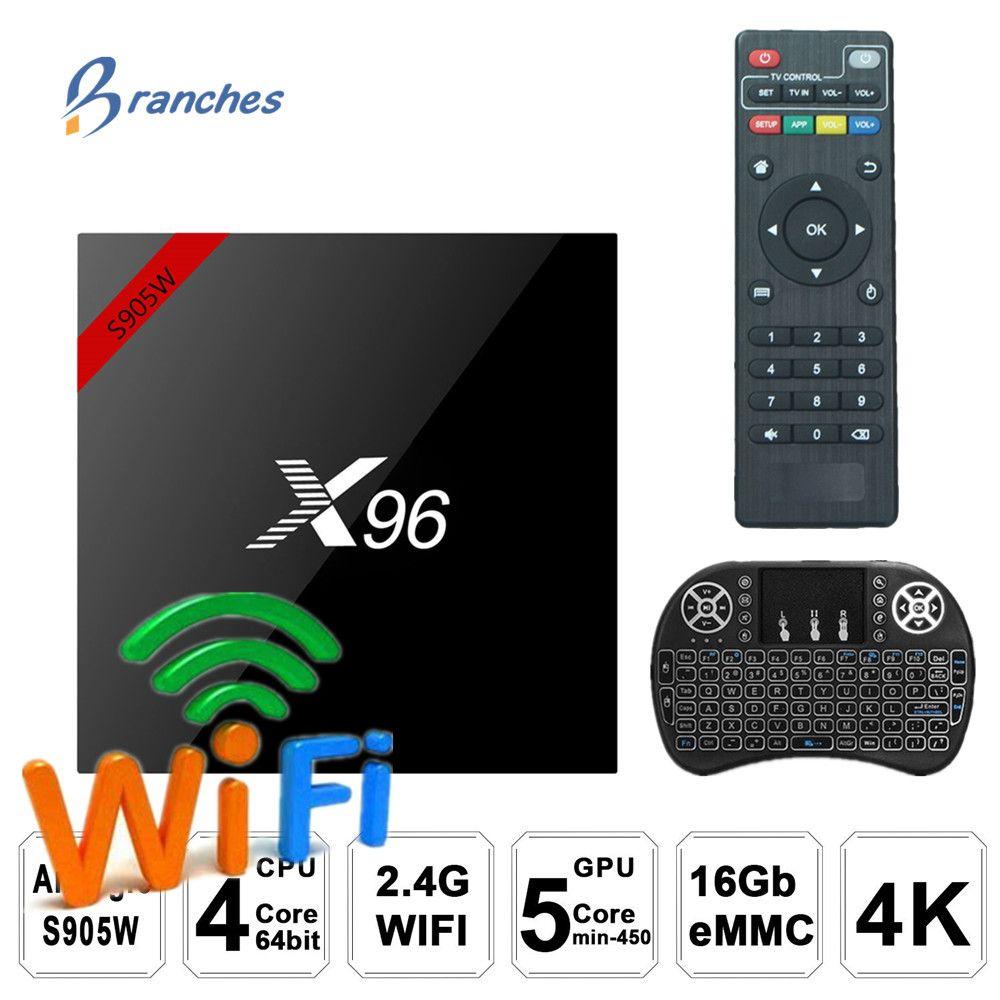 X96 X96W Android 7.1 TV Box WiFi S905W smart tv box android 2 gb ram Quad Core Set-top boîte tvbox 4 k Media Player X 96 set-top Box