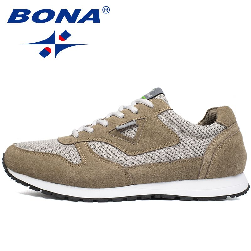 BONA New Typical Style Men Running Shoes Lace Up Mesh <font><b>Upper</b></font> Sport Shoes Outdoor Activities Athletic Shoes Comfortable Sneakers