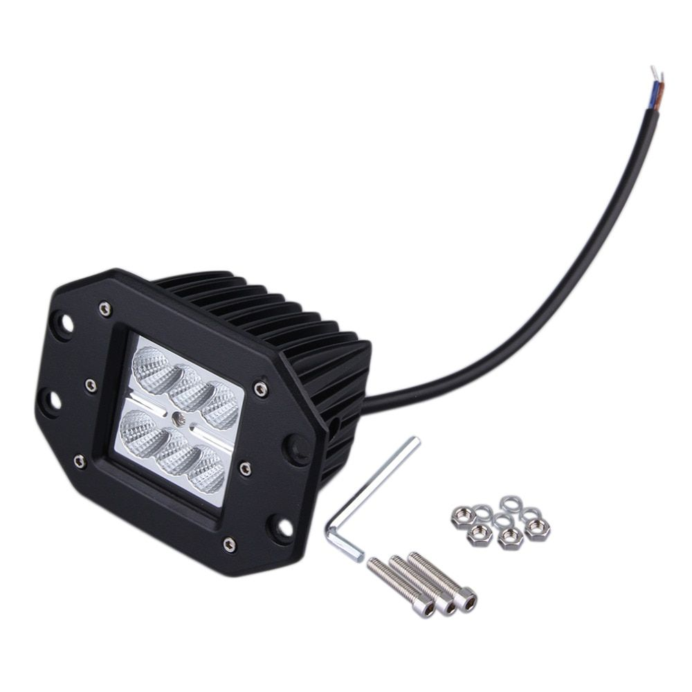 2018 4 inch 18W LED Work Light Motorcycle Tractor Boat Off Road Truck SUV ATV Flood Offroad Fog Lamp 12V Work Light Hot New