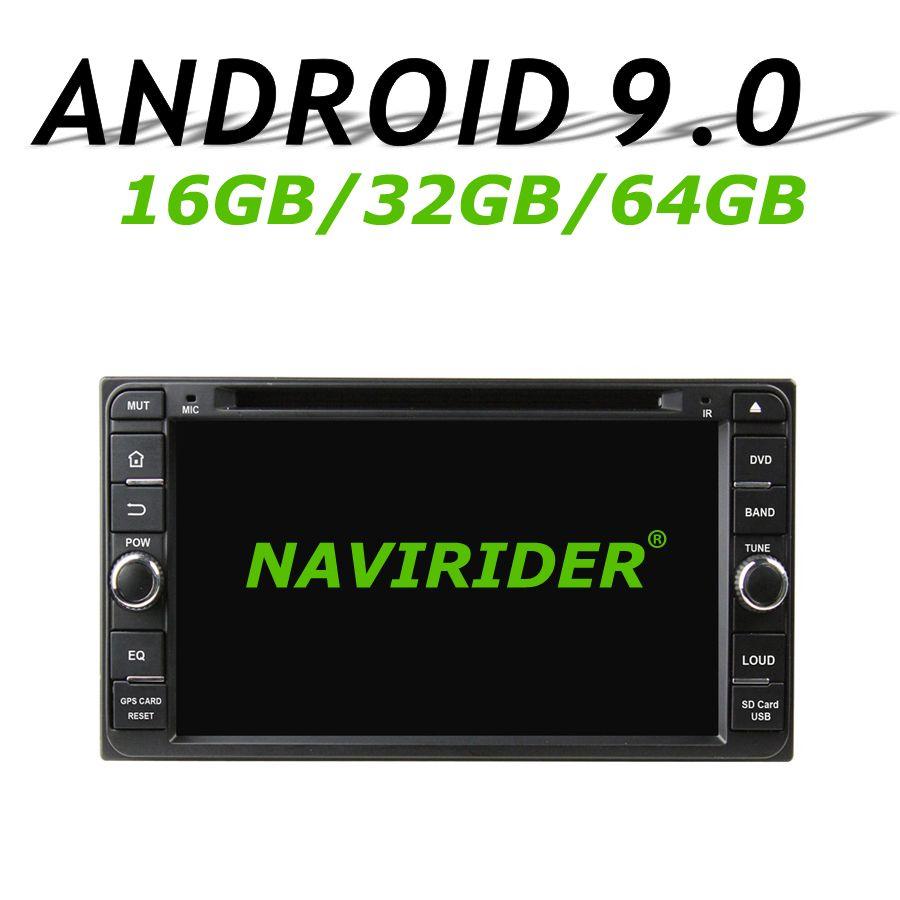Hohe konfiguration Octa Core Android 9.0 Auto GPS Multimedia Für TOYOTA Rav4 Corolla Vios Hilux Land Cruiser Prado Fortuner 06- 10