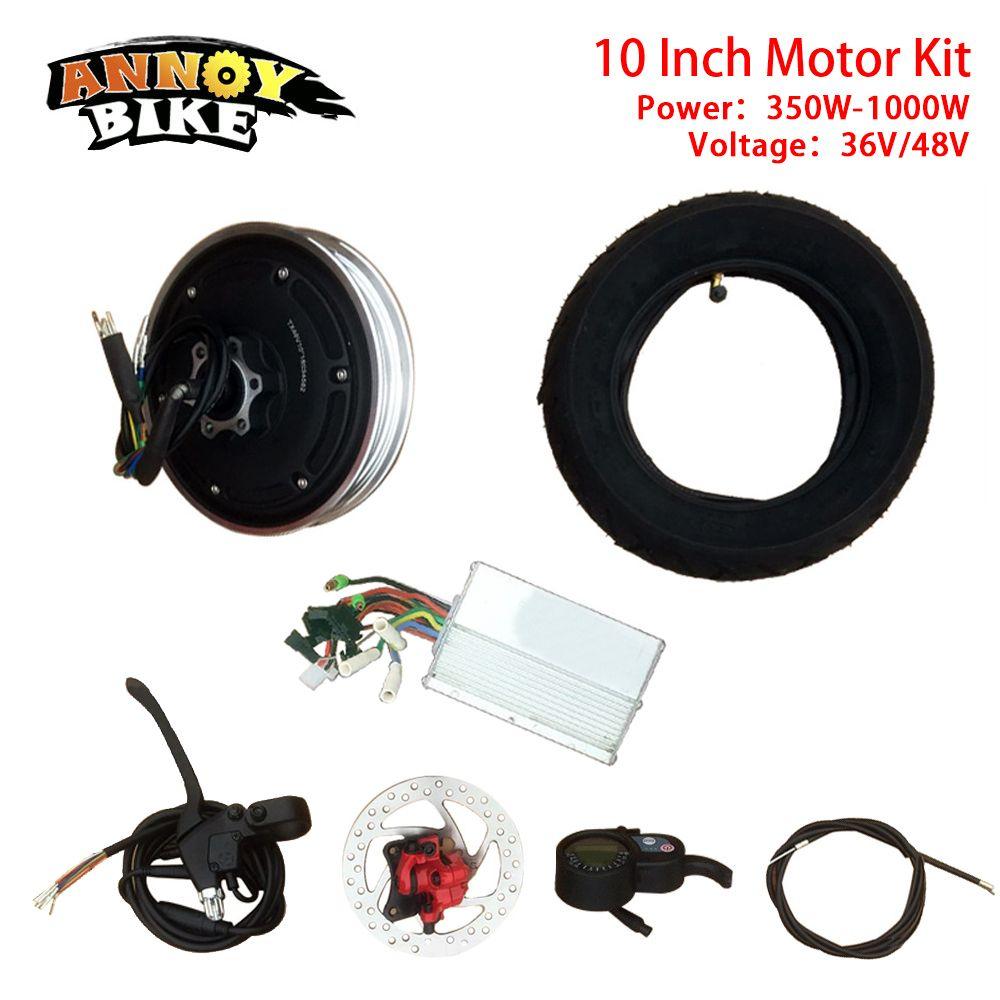10 inch Hub Motor e Bike motor wheel bicicleta electrica 36V48V350W500W Hub Motor Conversion Kit Motor Wheel Electric Bike Kit