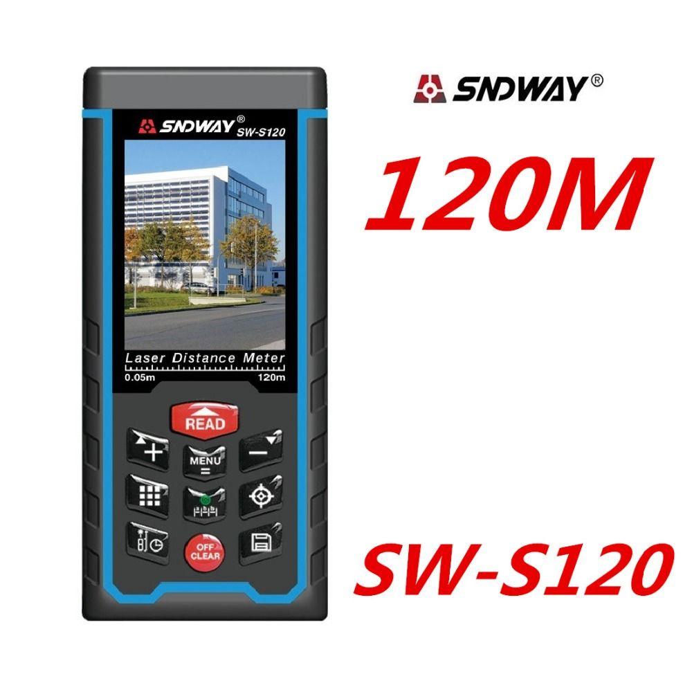80M 120M Laser Distance meter Rangefinder SW-S120 SW-S80 Laser Range Finder tape Measure W-TFT Lcd Camera rechargeable battery