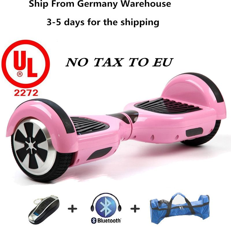 2 Wheel Motorized Scooter hoover Board Black UL approved rugged body with LED
