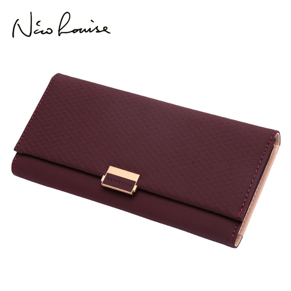 Femme portefeuille embrayage Plaid portefeuille Zipper femme dames changement chaud femmes luxe crédit support de carte de téléphone porte-monnaie pour les filles