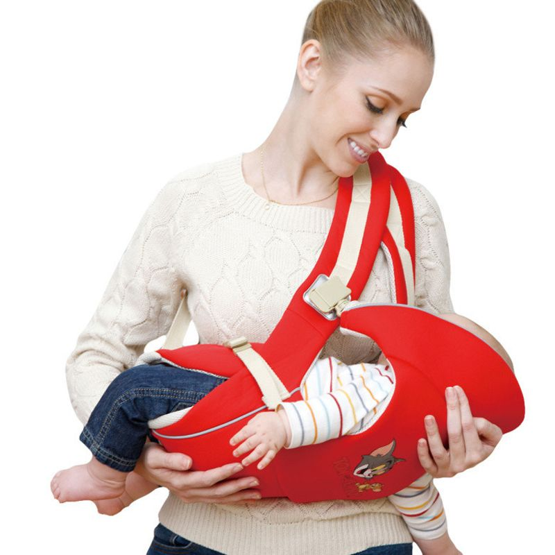 Bebamour Baby <font><b>Carrier</b></font> Front Facing Horizontal Carry Baby Sling Breathable 0-24 Months Ergonomic Baby Kangaroo Wrap