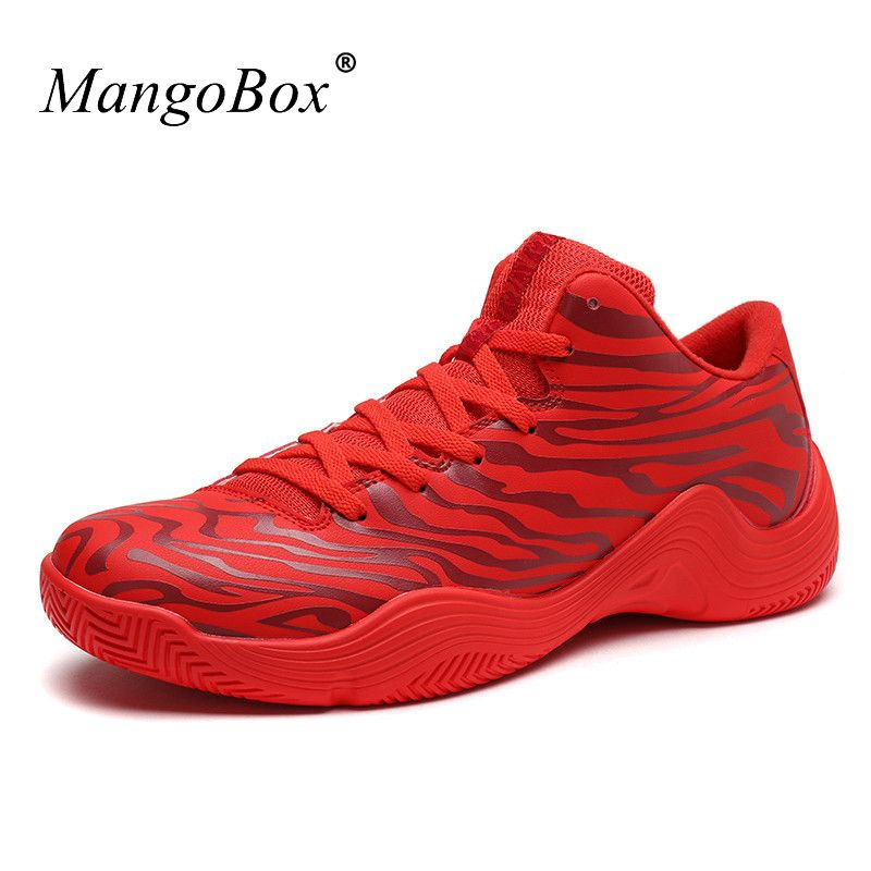 KERZER 2017 New Arrival Basketball Sneakers Size 39-45 Hard-Wearing Low Top Mens Basketball Shoes Red Black Men Gym Sneakers