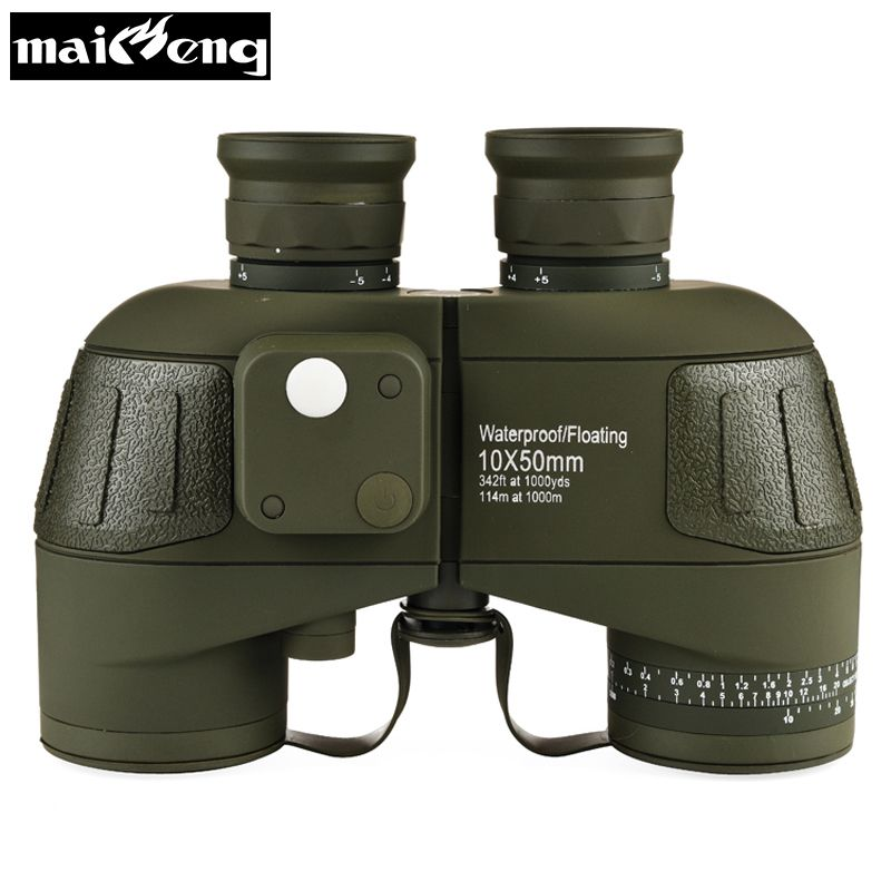 Original Germany Military Binoculars 10X50 High Times HD Telescope Quality Powerful Waterproof Binocular with Digital Compass