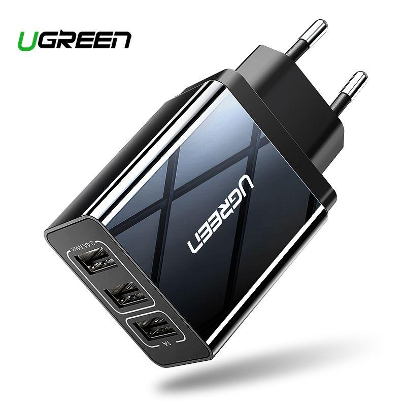 Ugreen chargeur USB pour iPhone Xs X 8 7 chargeur de téléphone rapide pour Samsung Xiaomi Huawei chargeur mural adaptateur EU chargeur de téléphone portable