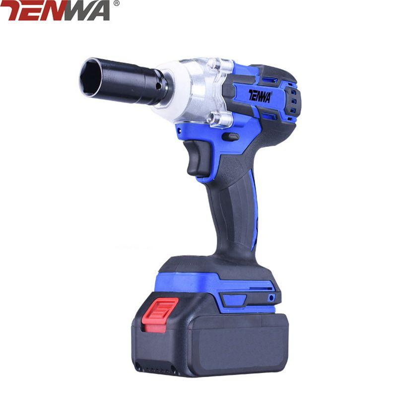 TENWA 21V 4500mAh Brushless Cordless Electric Wrench Impact Socket Wrench Li Battery Hand Drill Hammer Installation Power Tools