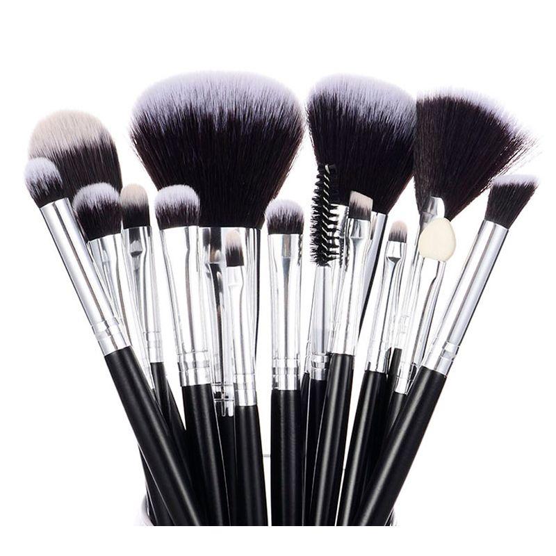 Ensemble de pinceaux de maquillage haut de gamme 15 pièces pinceau de maquillage professionnel Beginger visage yeux lèvres maquillage Contour Kit d'outils de beauté