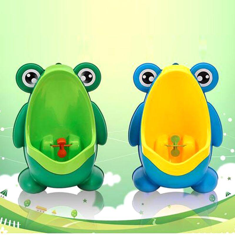 Nouveauté bébé garçon pot toilette formation grenouille enfants Stand Vertical urinoir garçons Penico Pee infantile bambin mural