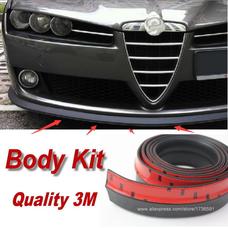 Lyudmila Car Bumper Lip / Make car lower Body Kit / For Alfa Romeo 159 AR Front / Rear Skirt Spoiler / Deflector Rubber Strip