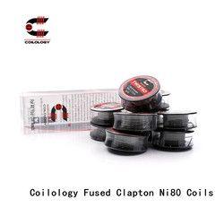 Coilology Menyatu Clapton Ni80 Coils pra-dibuat Resistansi Kawat Pemanas Coil untuk E-cigarette Vape RDA, RTA, RATA, RBA Penyemprot