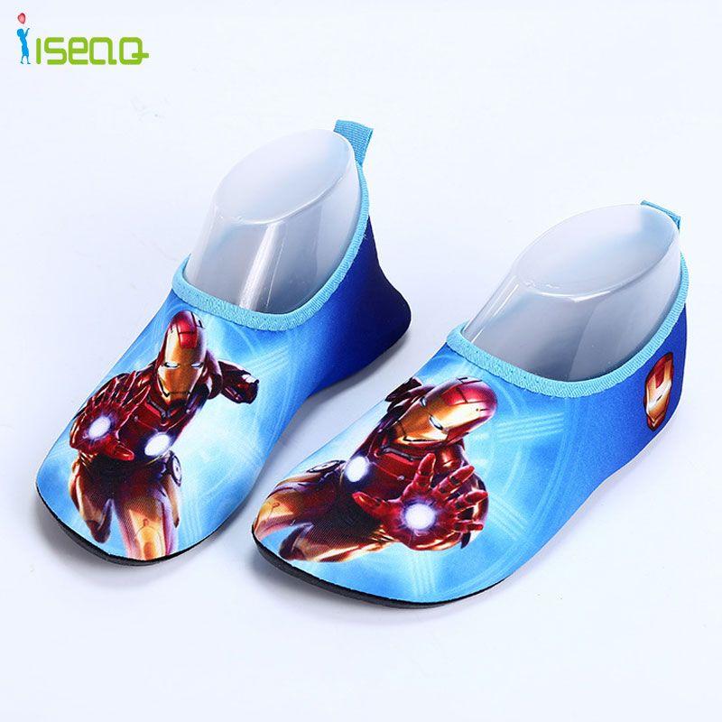 Niños nadar zapatos de playa zapatos de la historieta zapatos para caminar Río Arriba Zapatos zapatillas lindo de impresión de Secado rápido de Agua sandalias caseras EUR 24-35