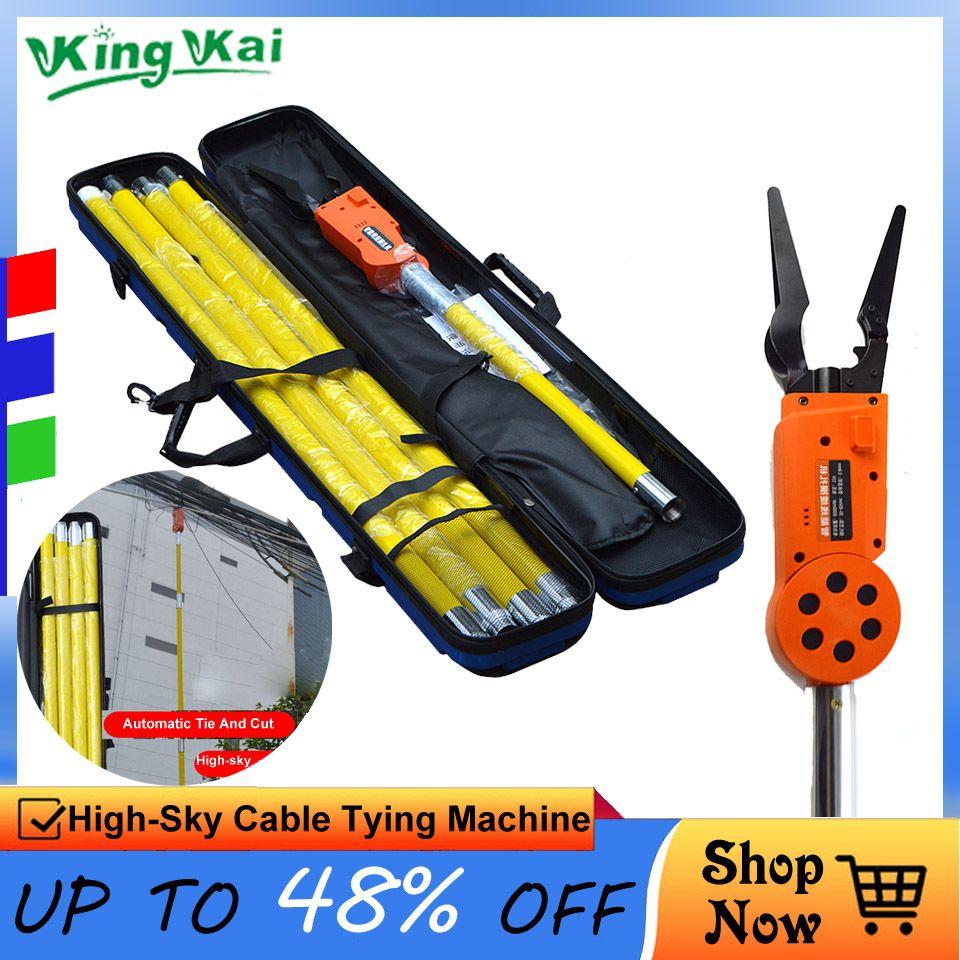12 V 6000 mah Lithium-Batterie Elektriker Fern Control Automatische High Sky Elektrische Draht Kabel Binden Maschine