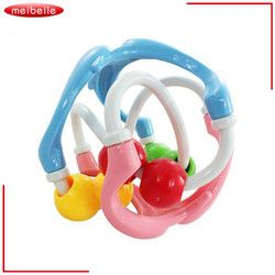 Gerakan Tangan Pelatihan Menggenggam Mainan Balita Clacking Tidur Geser Rattle Bola untuk Bayi 0-12 Bulan Pengembangan Kecerdasan