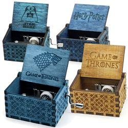 Dos colores Star Wars Juego De tronos caja De música caja Harry Potter tema musical De Musica cumpleaños presente