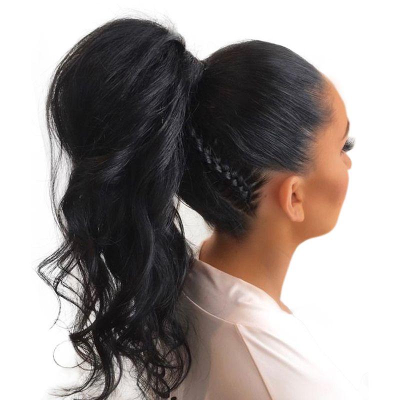360 Синтетический Frontal шнурка волос Парик предварительно сорвал с для волос 180% плотность бразильский Средства ухода за кожей волна Человечес...