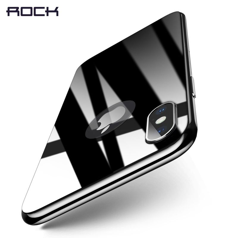 For iPhone X Back Protector Tempered Glass, ROCK 4D Curved Full Covered Film Back Protector For iPhone X Hard Thin 0.26MM
