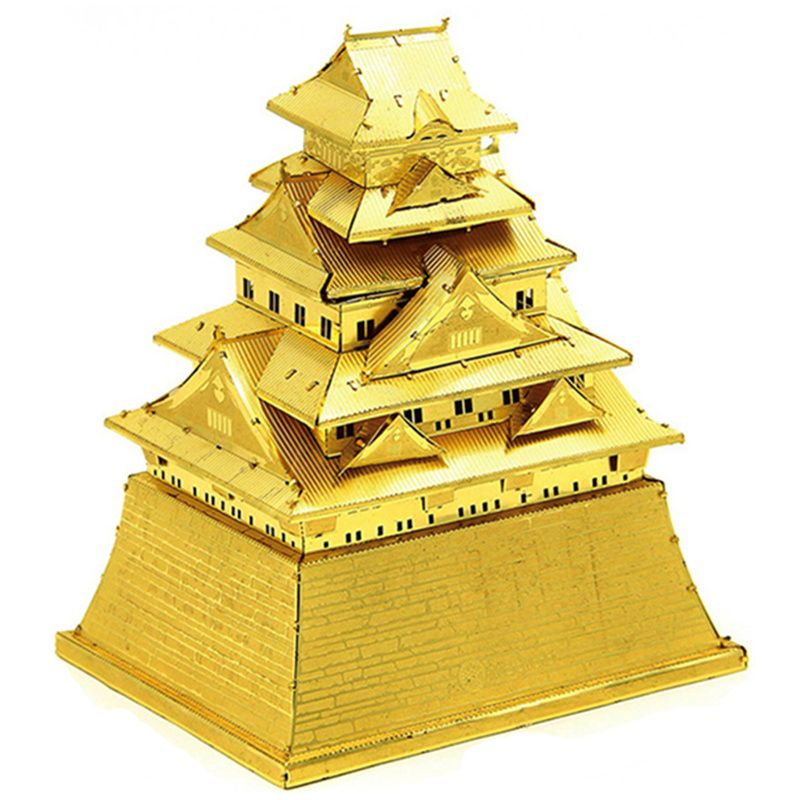 Osaka Castle Japan 3D DIY Metal Model Puzzle Miniature Scale Building Kits Toy Adult Hobby Science Creative Academia