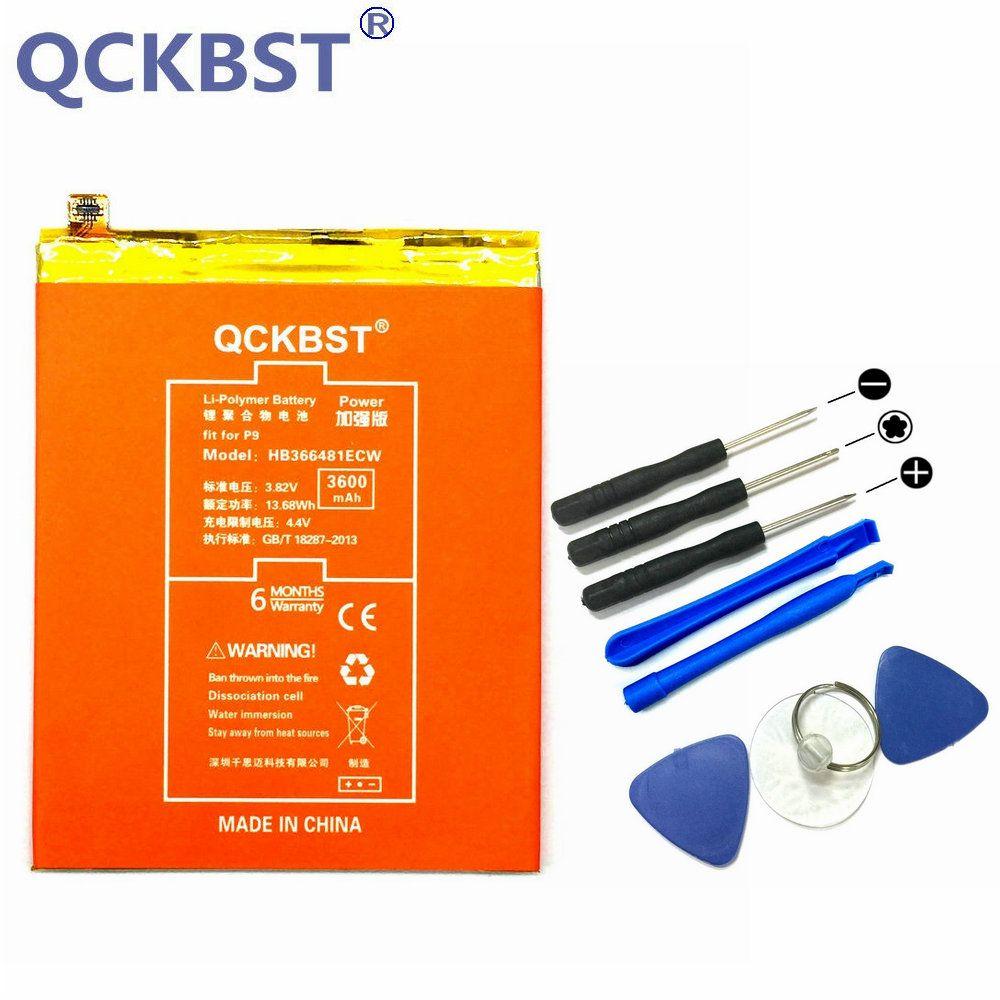 QCKBST HB366481ECW 3600mAh High Capacity Battery For Huawei P9 G9 G9 Lite Honor 8 5C Original Replacement Phone Li-ion Batteries