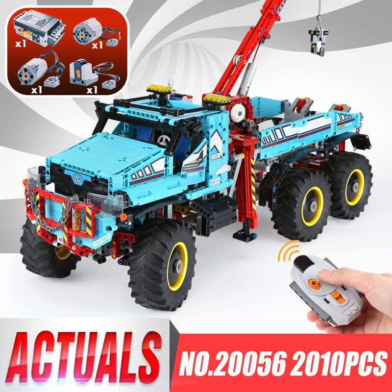 DHL Lepin 20056 Technic Series The Ultimate All Terrain 6X6 Remote Control Truck Set Building Blocks Bricks Toys legoingly 42070