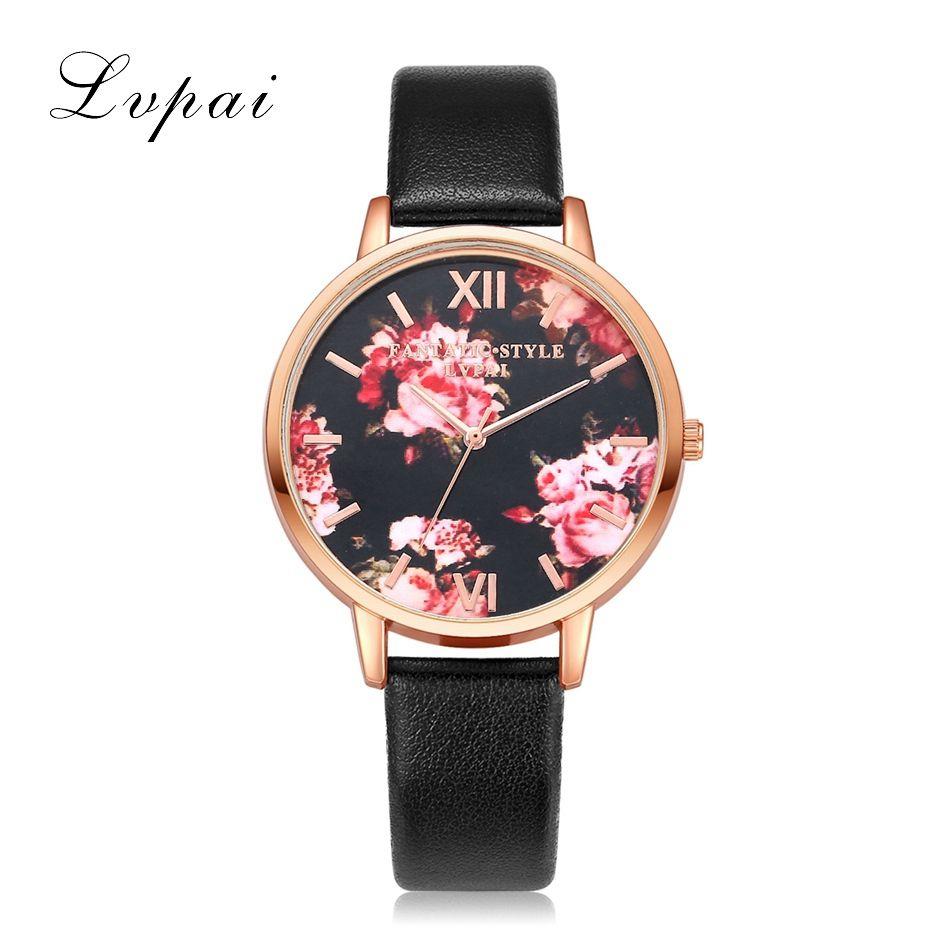 High Quality Fashion Leather Strap Rose Gold Women Watch Casual Love Heart Quartz Wrist Watch Women Dress Ladies Luxury Watches