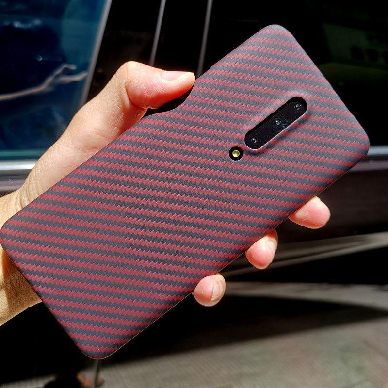 Coque arrière en fibre d'aramide pour OnePlus 7 Pro étui de protection 7T