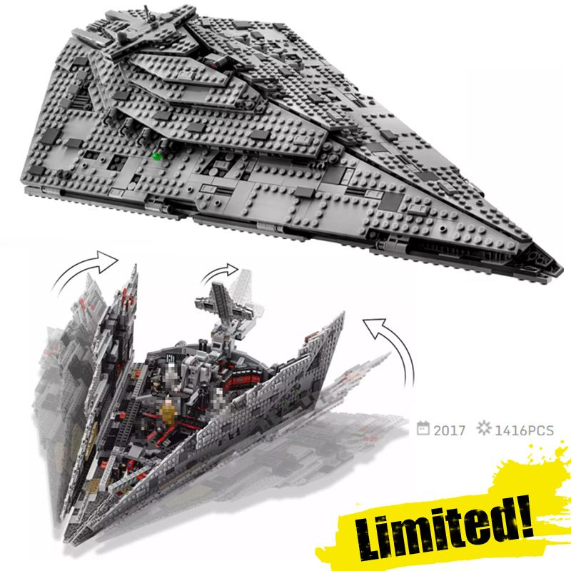 LEPIN 05131 05130 05042 AT-AT First Order Star Destroyer Clone Wars Building Blocks Bricks Toys Compatible with legoINGly 75190