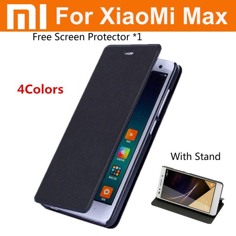 Mi max cas d'origine catman marque de luxe pu cuir flip couverture pour xiaomi Mi max premier 6.44