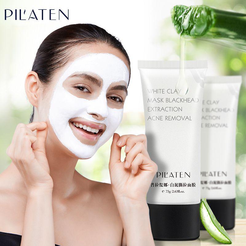 PILATEN Comédons Visage Masque Blanc Masque à L'argile Nettoyage En Profondeur Le Point Noir Traitements de L'acné Masque T Zone Soins Du Visage 75g