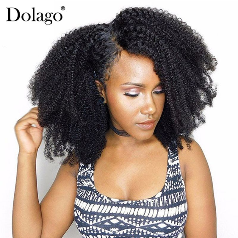 Afro Kinky Curly Clip In <font><b>Human</b></font> Hair Extensions 4B 4C Brazilian <font><b>Human</b></font> Natural Hair 3B 3C Clip Ins Dolago Remy Full Head