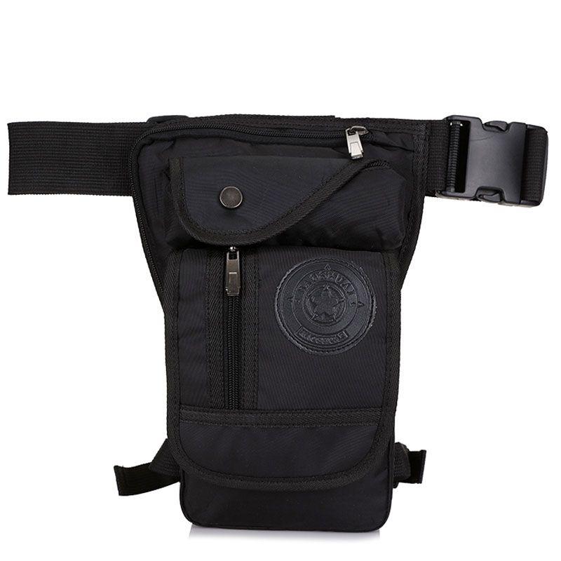 Men's Waterproof Nylon Ride Leg Bag Drop Fanny Waist Belt Hip Bum Military Motorcycle Riding Waist Leg Bag <font><b>Thigh</b></font> Pouch Pack Bag