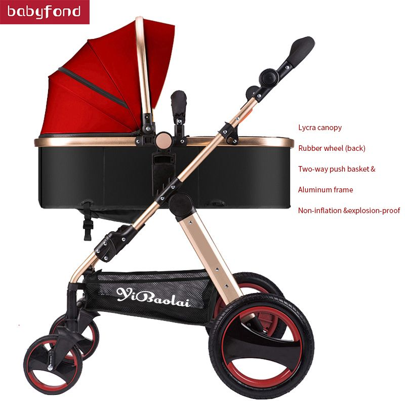 USA free shipping ! Baby Stroller High Landscape Can Sit And Lie trolley high quality Folding Baby Cart Children's pram