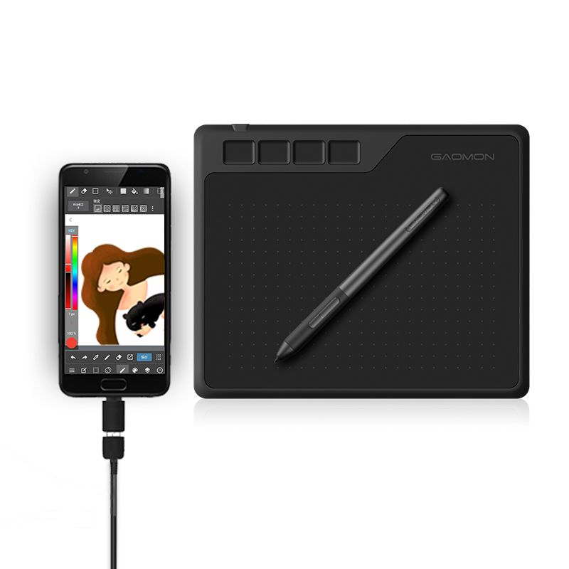 GAOMON S620 6.5 x 4 Inches 8192 Level Battery-free Pen Support Android Windows Mac OS System Digital Graphic Tablet for Drawing