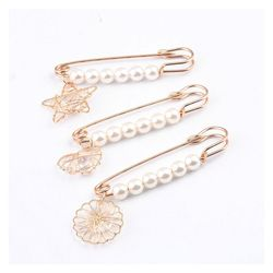 Big Size Pendant Charm Pins for Women Round Star Heart Pearl Brooch for Women Jewelry Accessories Fashion