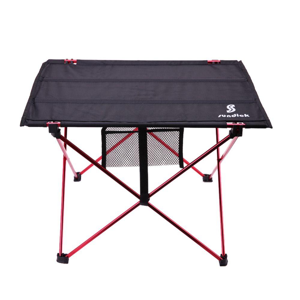 Table pliante extérieure Camping Table de pique-nique en alliage d'aluminium imperméable à l'eau Ultra-léger Table pliante Durable bureau pour pique-nique