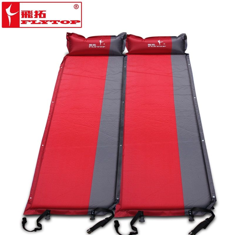 2Pcs/1Lot!Flytop (170+25)*65*5cm single person automatic inflatable mattress outdoor camping fishing beach picknic tent mat