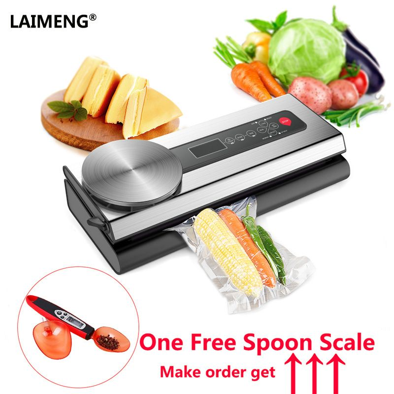 LAIMENG Vacuum Sealer Professional 110V/220V Chamber Free Spoon Scale Vacuum Bags For Vac Mater Vacuum Packing Machine S146