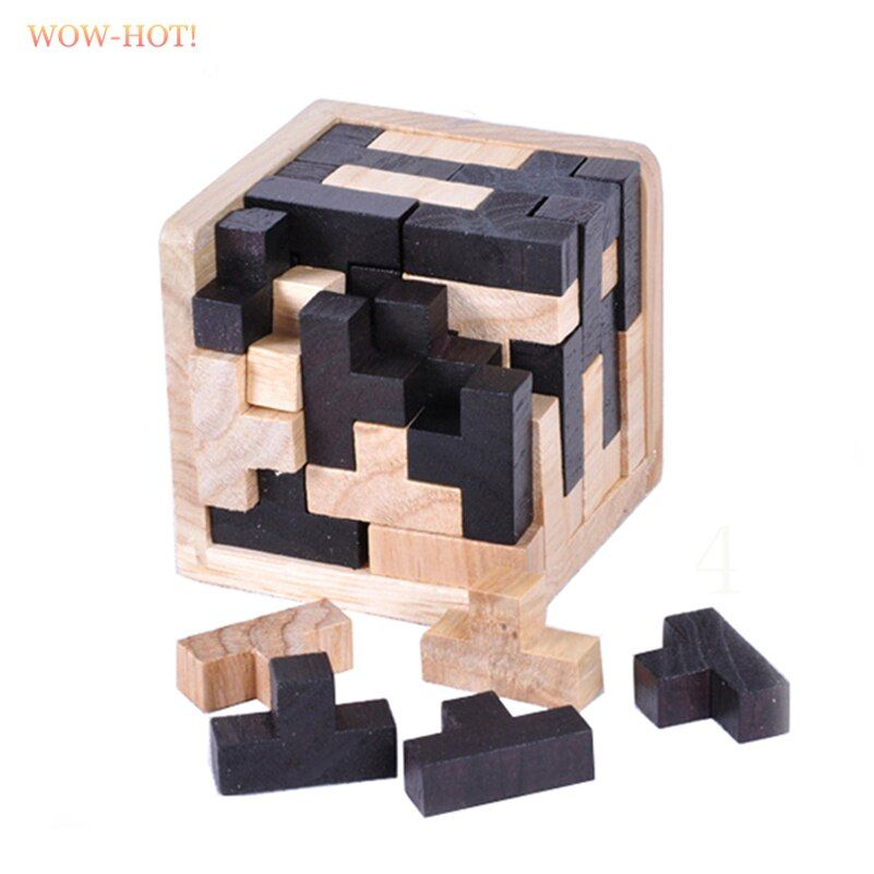 WOWHOT Classic IQ Wooden Magic Tetris Puzzle Game for Adults Children Gifts,Lock IQ Mind Brain Teaser Games Educational Toys