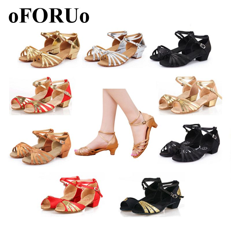 2017 New Latin shoes children kids adult Women latin dance shoes Ballroom Salsa shoes for woman size 24~40 SR004