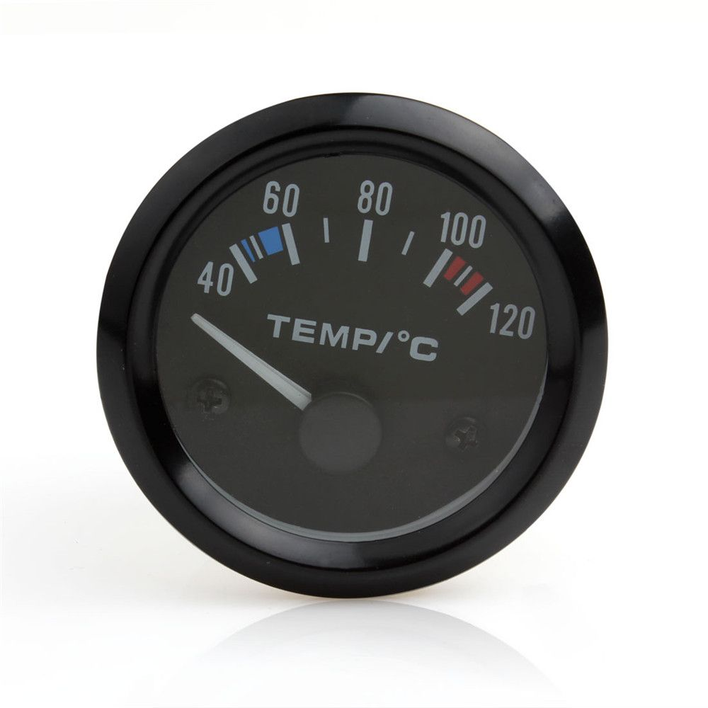 Brand New Auto Instruments New 2inch 12V Universal Car Pointer Water Temperature Temp Gauge 40 - 120 White LED