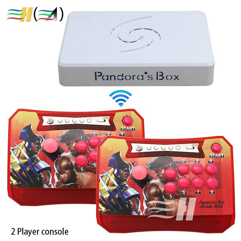 Der Pandora Box 6 1300 in 1 Drahtlose Arcade Spiel Stick Konsole 1300 in 1 Spiele Verbunden zu TV PC PS3 können hinzufügen 3000 spiele mame ps1