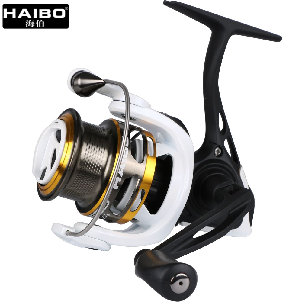 Haibo Steed Full Metal Spinning Fishing Reel 8BB+1RB 5.2:1 High Speed Shallow Spool Lure Fishing Reel Size 10S 20S 30S 40S