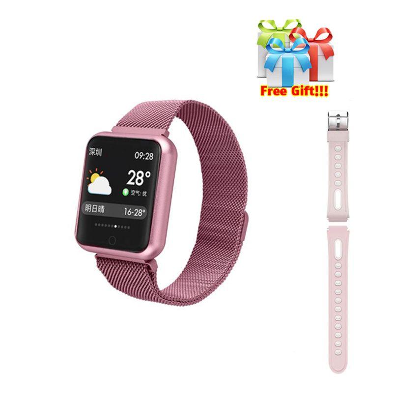 P68 watch+belt/set IP68 fitness tracker women Smart Bracelet Heart Rate activity bracelet smartwatch compatible for iphone 6 8